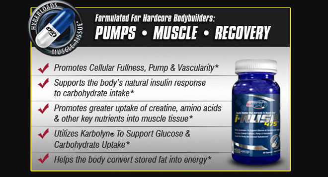 Formulated for hardcore bodybuilders: pumps, muscle, recovery. Promotes Cellular Fullness, Pump and Vascularity*, Supports the body's natural insulin response to carbohydrate intake*, Promotes greater uptake of creatine, amino acids and other key nutrients into muscle tissue*, Utilizes Karbolyn® To Support Glucose and Carbohydrate Uptake*, Helps the body convert stored fat into energy*.