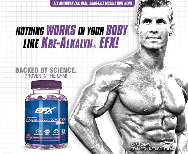 NOTHING WORKS IN YOUR BODY LIKE KRE-ALKALYN EFX! BACKED BY SCIENCE. PUT TO THE TEST IN THE GYM
