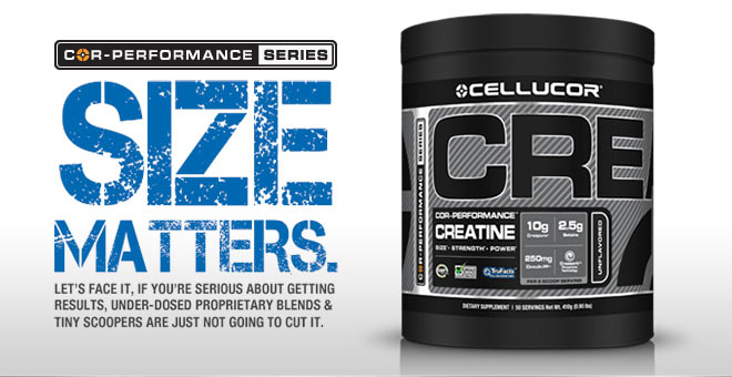 Cellucor COR-Performance Creatine - Size Matters.