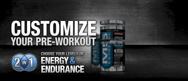 Customize Your Pre-Workout - 2 In 1 - Choose Your Levels Of Energy & Endurance