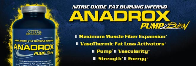 Nitric Oxide Fat Burning Inferno. Anadrox pump and Burn. - Maximum Muscle Fiber Expansion - VasoThermic Fat Loss Support - Pump - Vascularity - Strength - Energy.*