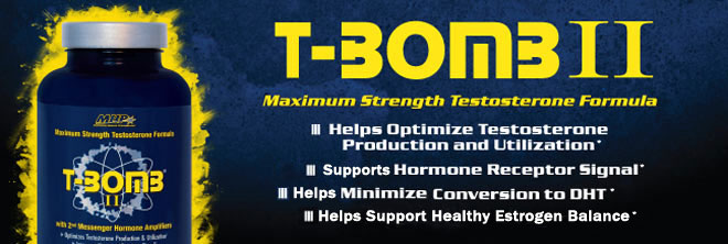 T-Bomb II. Maximum Support Testosterone Formula.* - Helps Optimize Testosterone Production and Utilization.* - Promotes Hormone Receptor Signals.* - May Help Minimize Conversion to DHT.* - Promotes Healthy Estrogen Balance.*