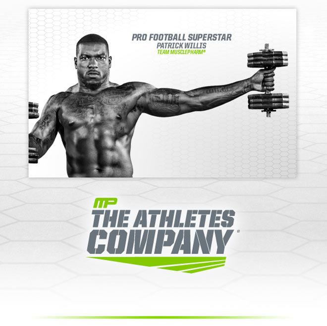 Pro Footbal Superstar Patrick Willis - Team MusclePharm. MP The Athletes Company