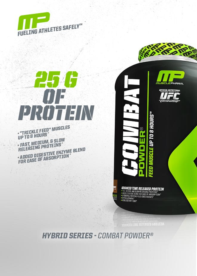MUSCLEPHARM COMBAT PROTEIN POWDER 2 lbs