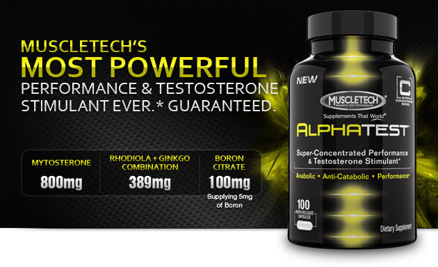 MuscleTech AlphaTest/MyoBuild Stack Log. [View Image] ...