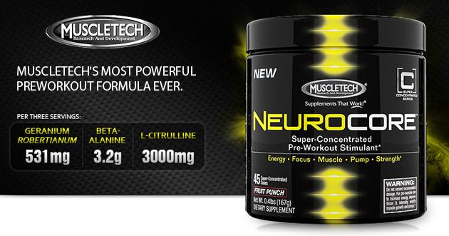 All In Nutrisport vous présente le tout dernier booster de MUSCLETECH : NEUROCORE avec 50 doses.