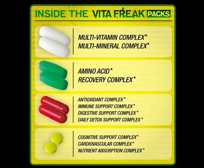 VITA FREAK PACKS by PharmaFreak at Bodybuilding.com - Best Prices on