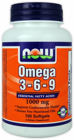 NOW Omega 3-6-9 - 100 Softgels