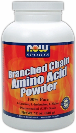 NOW Branched Chain Amino Acid Powder - 340 Grams - Unflavored
