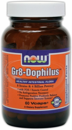 NOW Gr8-Dophilus - 60 Vcaps