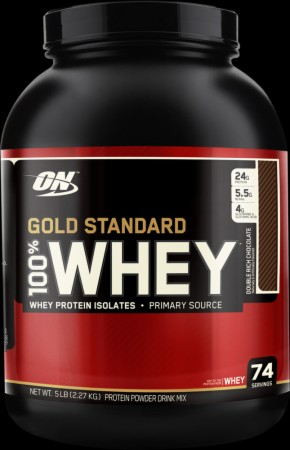 Optimum 100% Whey Protein, 5 Lbs., Double Rich Chocolate
