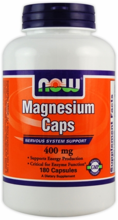 NOW Magnesium Caps - 180 Capsules