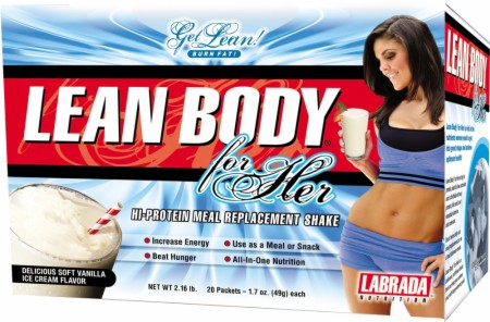 Labrada Lean Body For Her - 20 Packets - Delicious Strawberry Ice Cream