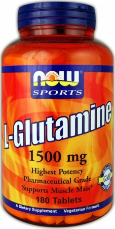 image 25085 450 white NOW L Glutamine   1000mg/120 Capsules
