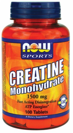 NOW Creatine Monohydrate Tabs - 1500mg/250 Tablets