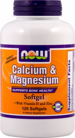 NOW Calcium Magnesium - 240 Softgels