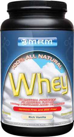 MRM 100% All Natural Whey - 2.02 Lbs. - Rich Vanilla
