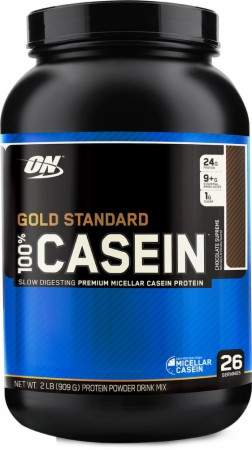 Optimum Gold Standard 100% Casein - 4 Lbs. - Chocolate Cake Batter
