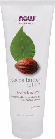 image 25440 450 white NOW Cocoa Butter Lotion   8 Fl. Oz.
