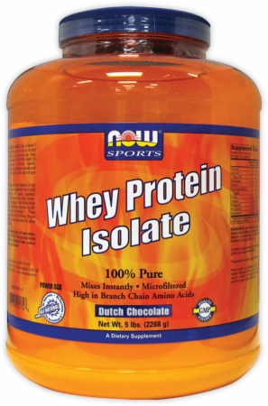 NOW Whey Protein Isolate - 5 Lbs. - Dutch Chocolate