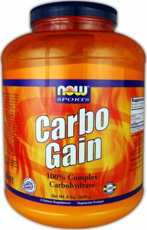NOW Carbo Gain - 12 Lbs. - Unflavored