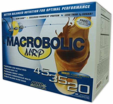 MHP Macrobolic MRP - 20 Packets - Chocolate Fudge Brownie