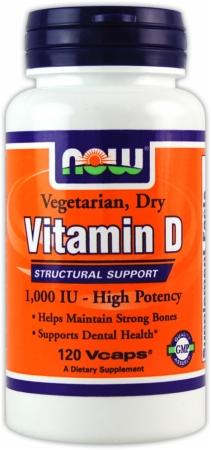NOW Vitamin D - Vegetarian - 120 Vcaps