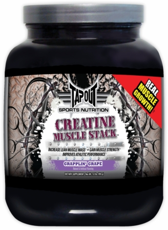 TapouT Sports Nutrition Creatine Muscle Stack Powder - 816 Grams - Grapplin' Grape