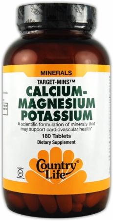 Country Life Calcium Magnesium Potassium - 180 Tablets