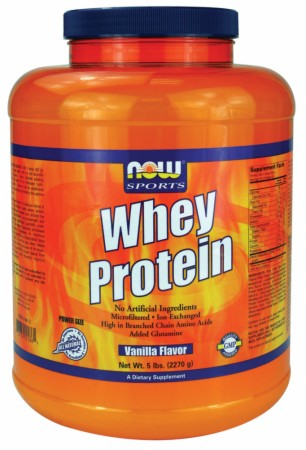 NOW Whey Protein - 6 Lbs. - Vanilla
