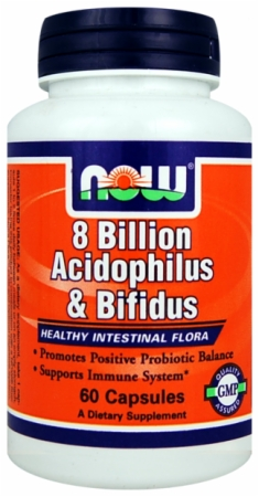 NOW 8 Billion Acidophilus Bifidus - 120 Capsules