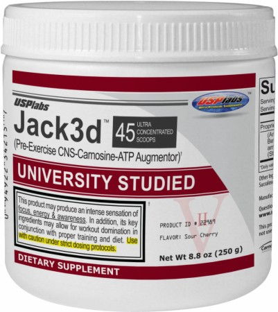 USPlabs Jack3d - 250 Grams - Sour Cherry - Exclusive Flavor!