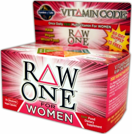 Garden Of Life Raw One For Women - 75 UltraZorbe Vcaps