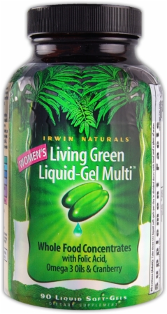 Irwin Naturals Living Green Liquid-Gel Multi For Women - 90 Softgels