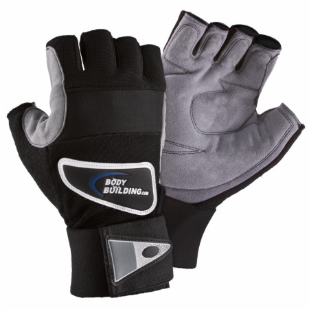 Bodybuilding.com Accessories Ultra Workout Gloves - Black/Gray - Small...