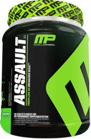 MusclePharm Assault - 32 Servings - Blue Arctic Raspberry