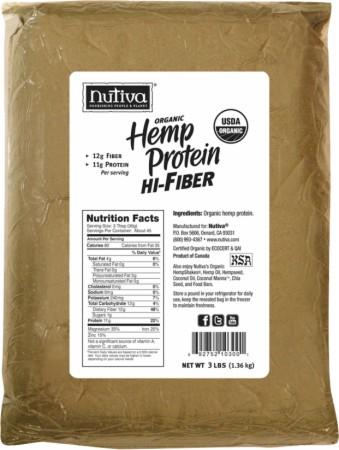 Nutiva Organic Hemp Protein Hi-Fiber - 3 Lbs. - Unflavored