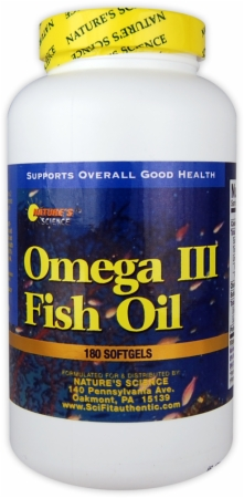 Nature's Science Omega III Fish Oil - 180 Softgels