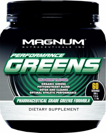 Magnum Nutraceuticals Performance Greens - 500 Grams - Wild Berry