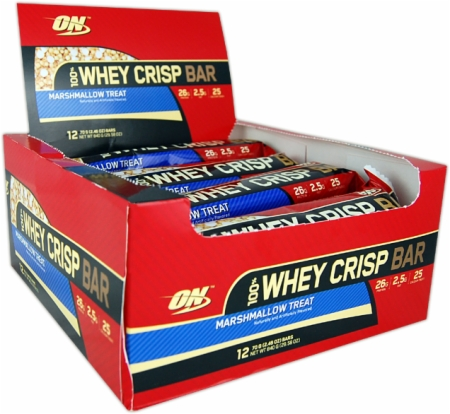Image for Optimum Nutrition - 100% Whey Crisp Bars