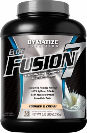 Dymatize Elite Fusion 7 - 5.15 Lbs. - Rich Chocolate Shake