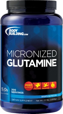 Bodybuilding.com Foundation Series Micronized Glutamine - 1000 Grams - Unflavored