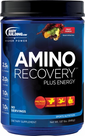 Bodybuilding.com Amino Recovery Energy - 90 Servings - Blue Raspberry
