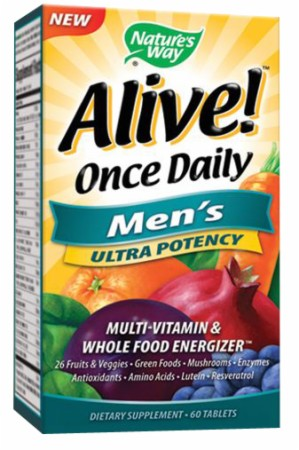 Nature's Way Alive Once Daily Men's - 60 Tablets