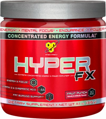 BSN Hyper FX - 30 Servings - Fruit Punch