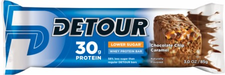 Detour Detour Low Sugar Bars - 12 Large Bars - Low Sugar Peanut Butter Cream
