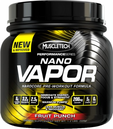 MuscleTech NANO VAPOR - 40 Servings - Blue Raspberry