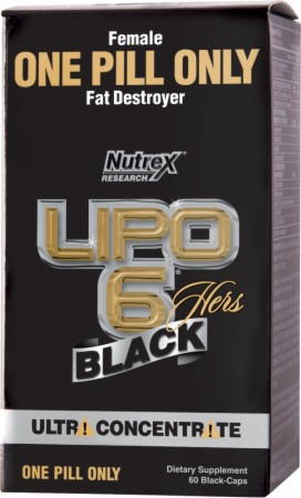 Nutrex Lipo-6 Black Hers Ultra Concentrate - 60 Black-Caps